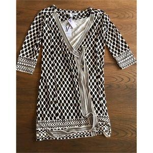 Diane Von Furstenberg Tallulah Silk Wrap Dress 12